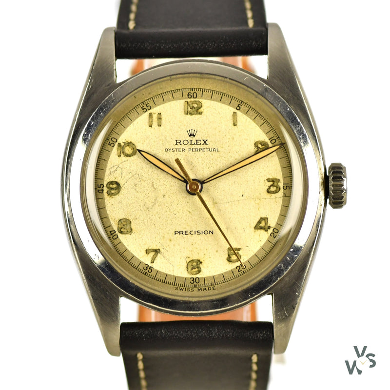 Rolex - Oyster Perpetual Precision - Ref.6098 - c.1952 - Steel 36mm Case - Vintage Watch Specialist