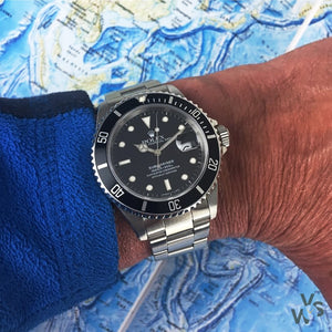 Rolex Oyster Perpetual Submariner Date - c.1991 - w/ Box and Papers - Ref. 16610 - Swiss-T-25 Dial - Vintage Watch Specialist