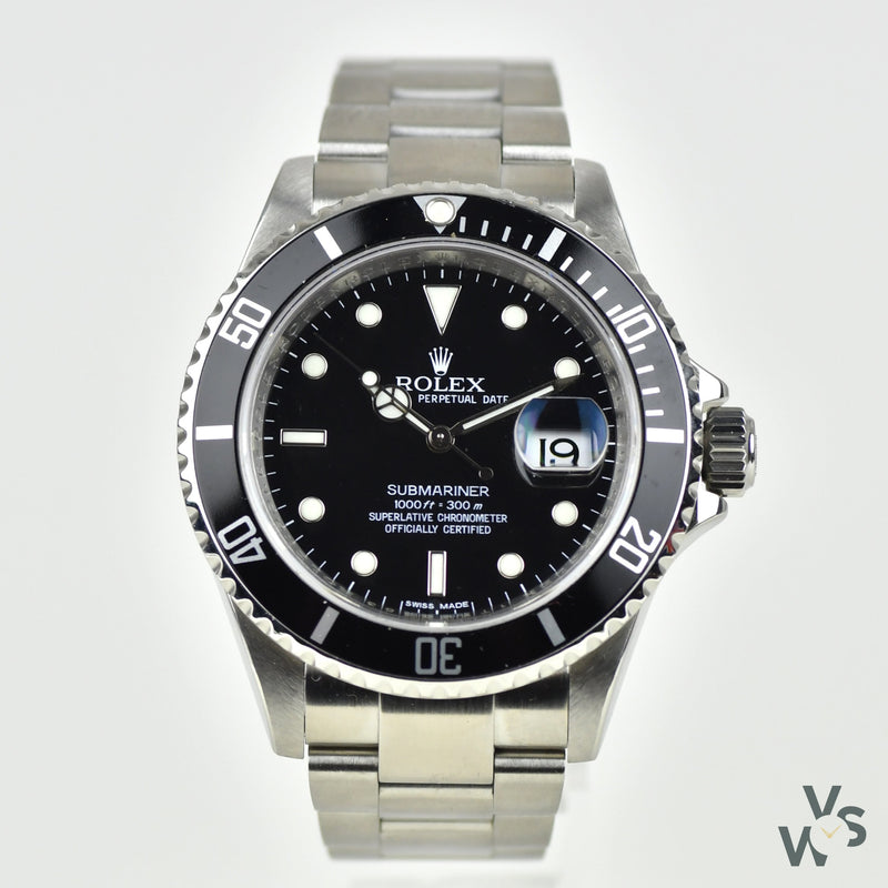 Rolex - Oyster Perpetual Submariner - Date - Model Ref: 16610LN - With Box and Paperwork - 2013 - Vintage Watch Specialist