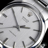 Rolex - Oyster Precision Ref: 6426 - c.1969 - Cal.1210 - Brushed Textured Dial - Vintage Watch Specialist