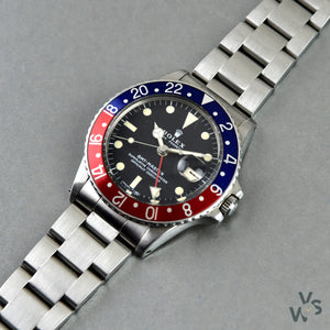 Rolex - Reference: 1675 - Oyster Perpetual GMT Master 'Pepsi' Bezel - circa.1971 - Vintage Watch Specialist