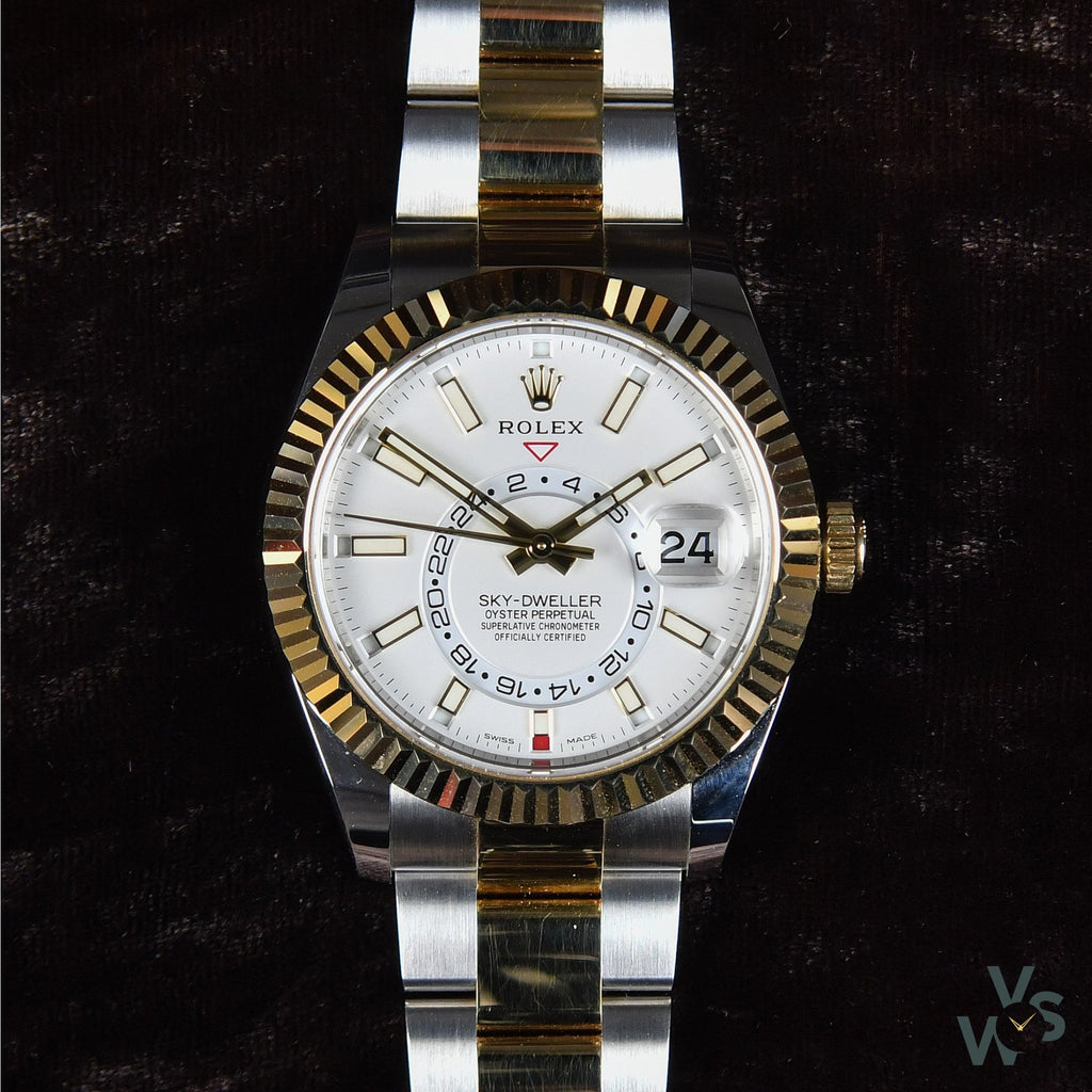 Rolex Sky Dweller 326933 in Gold and Steel - Vintage Watch Specialist