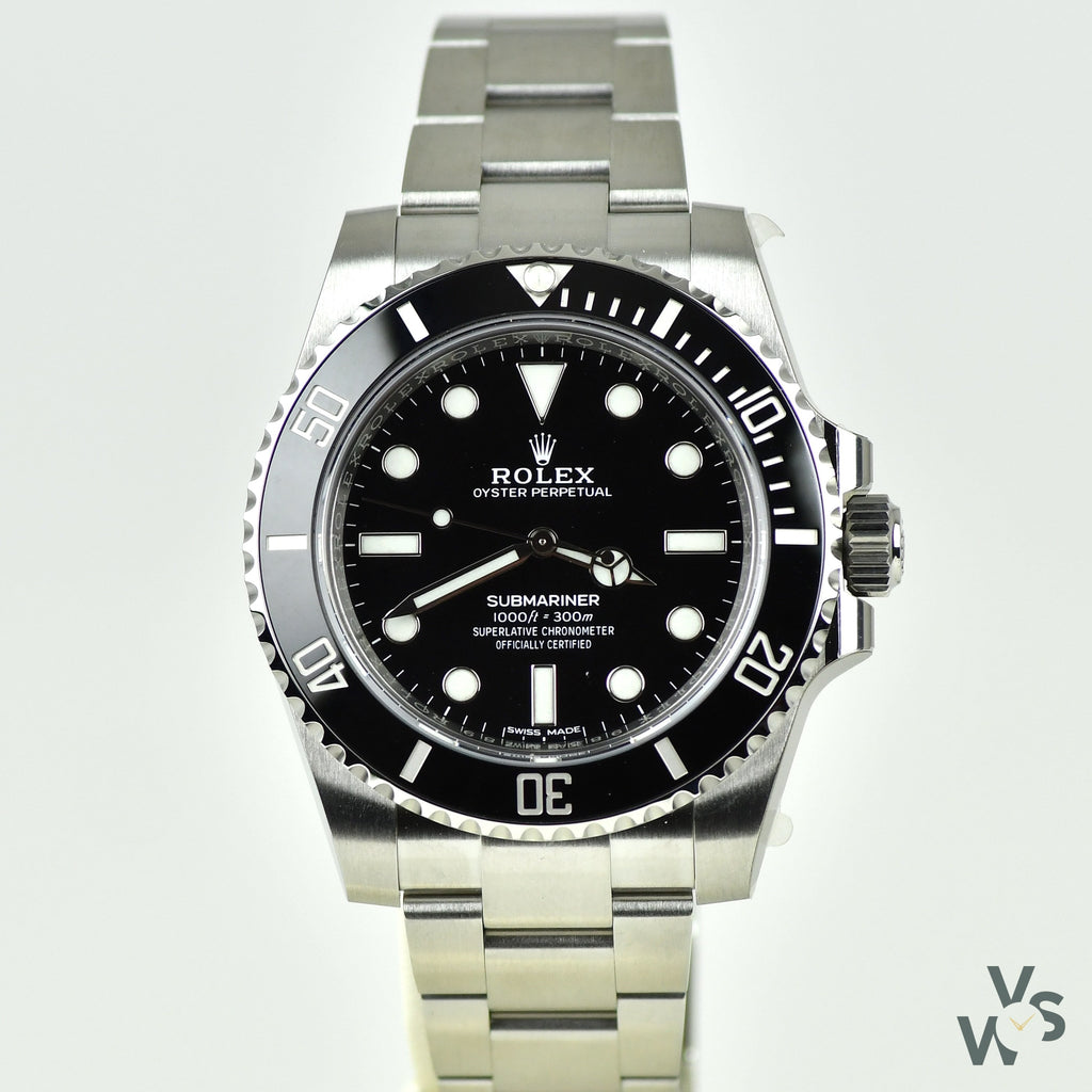 Rolex Submariner - No Date - Ref: 114060 - 2019 New Unworn - Still with Protective Stickers - Vintage Watch Specialist