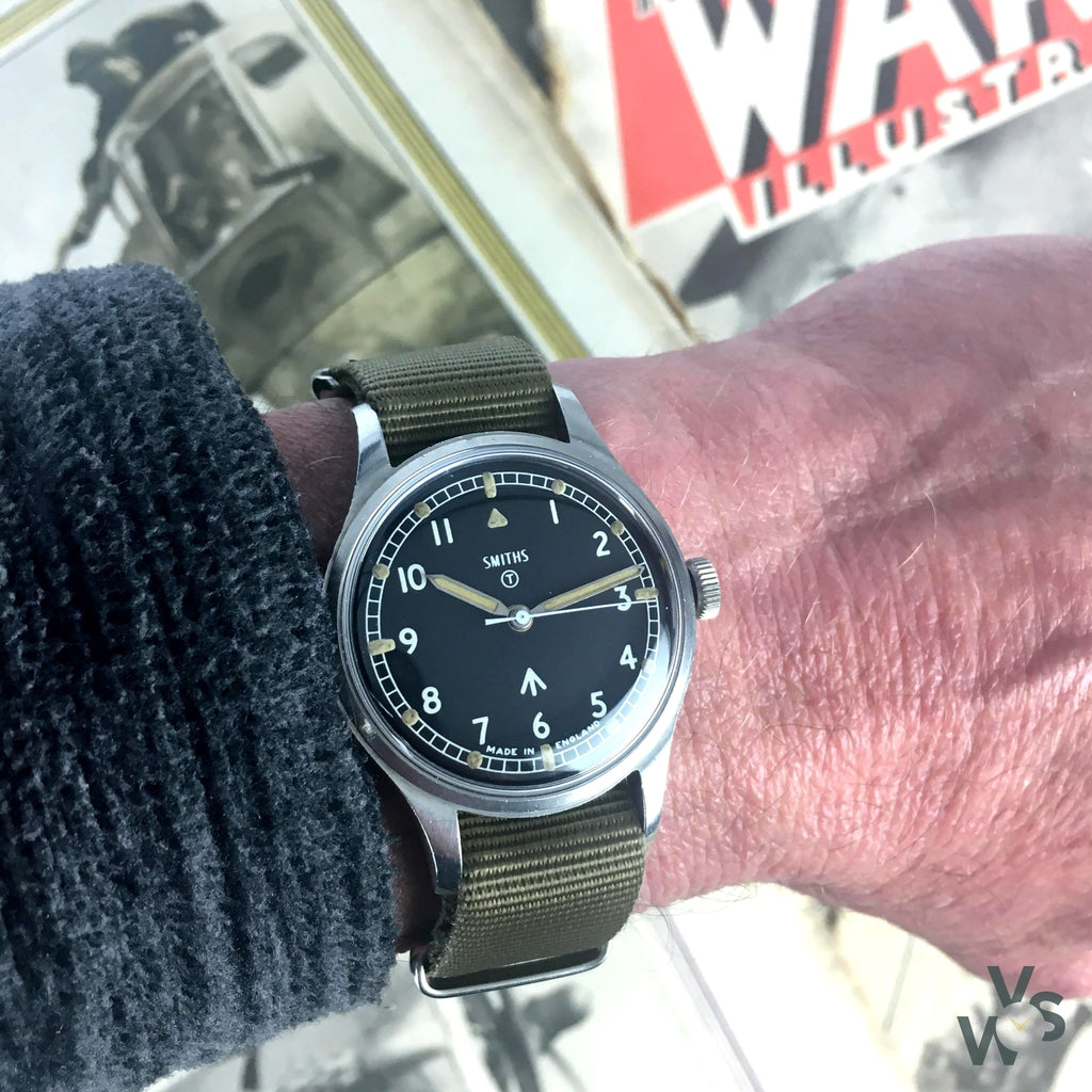 Smiths W10 British Army-Issued Military Wristwatch - Issued 1967 - Vintage Watch Specialist