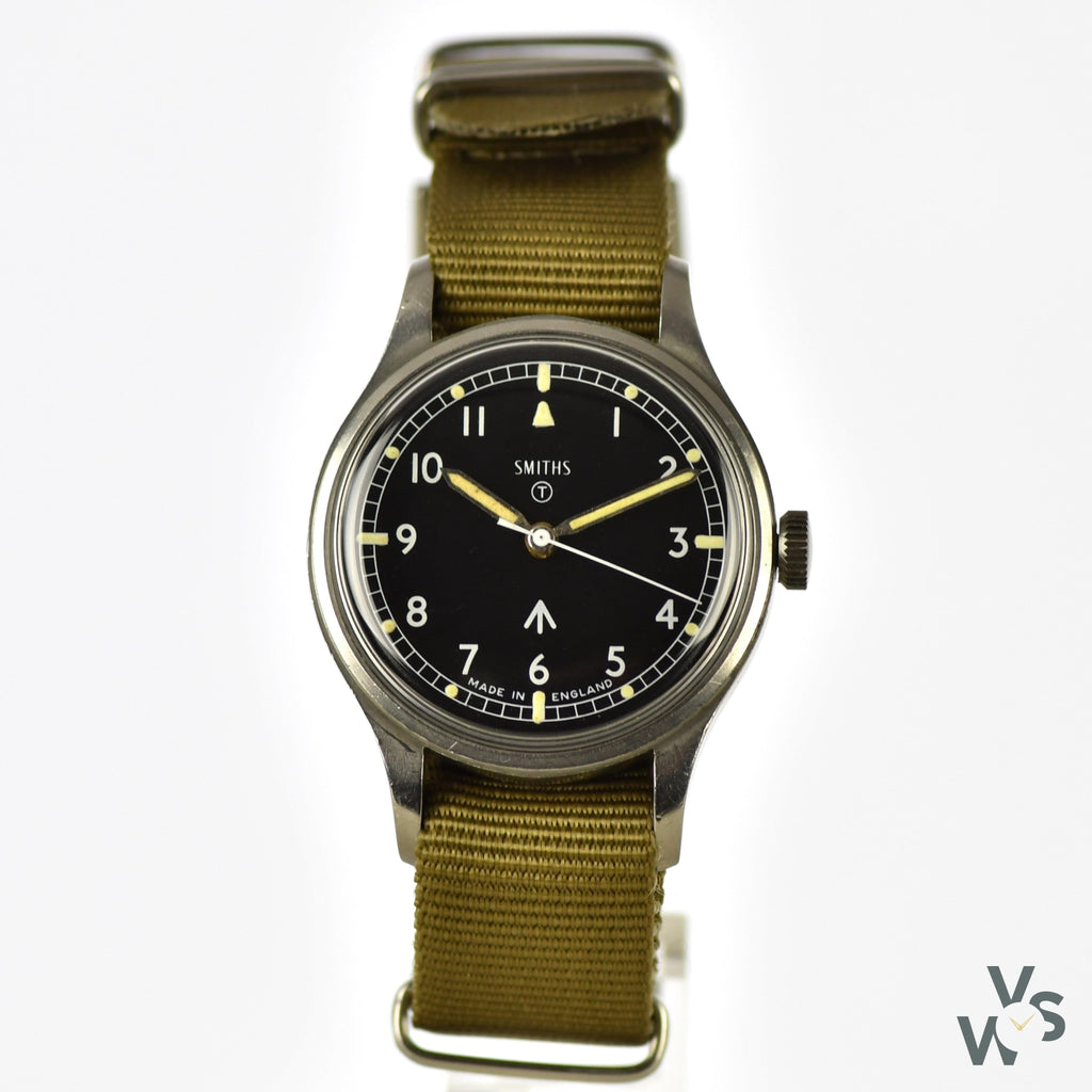 Smiths W10 - British Army Issued Military Wristwatch - Issued 1970 - Vintage Watch Specialist