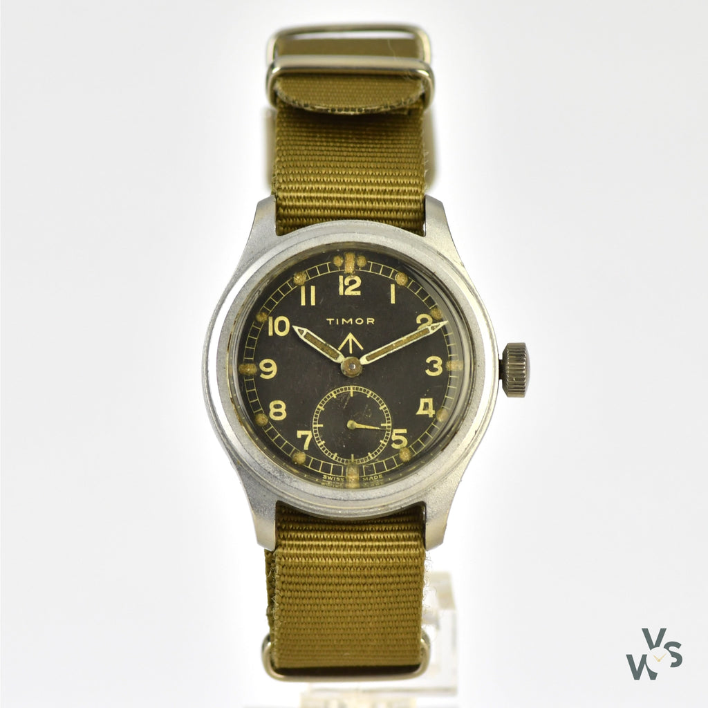 Timor WWW 'Dirty Dozen' c.1944 World War II Military Watch - Vintage Watch Specialist