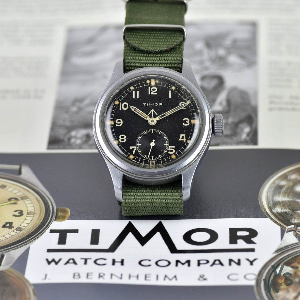 Timor WWW Dirty Dozen World War II Military Watch - Vintage Watch Specialist