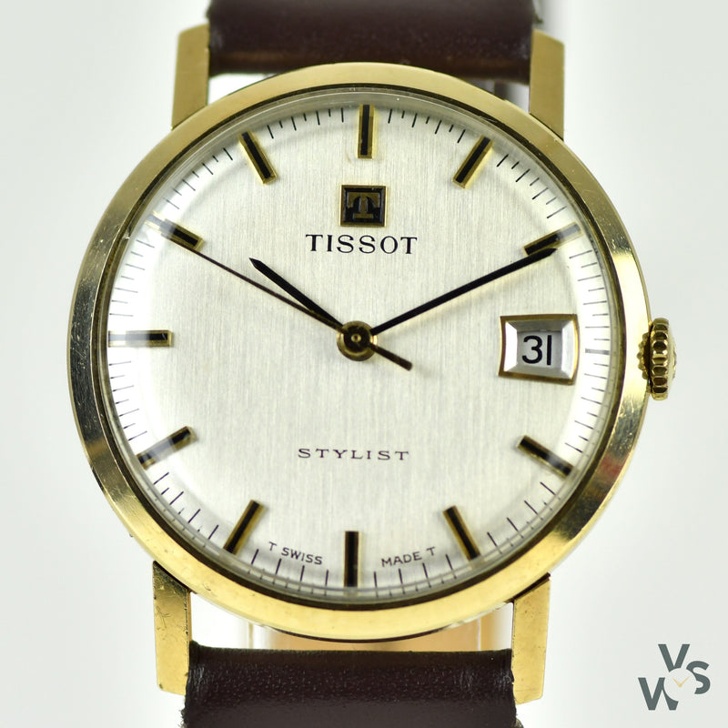 Tissot 9k Gold Stylist Ref. 1061 11001 - c.1970's Vintage Dress - Vintage Watch Specialist