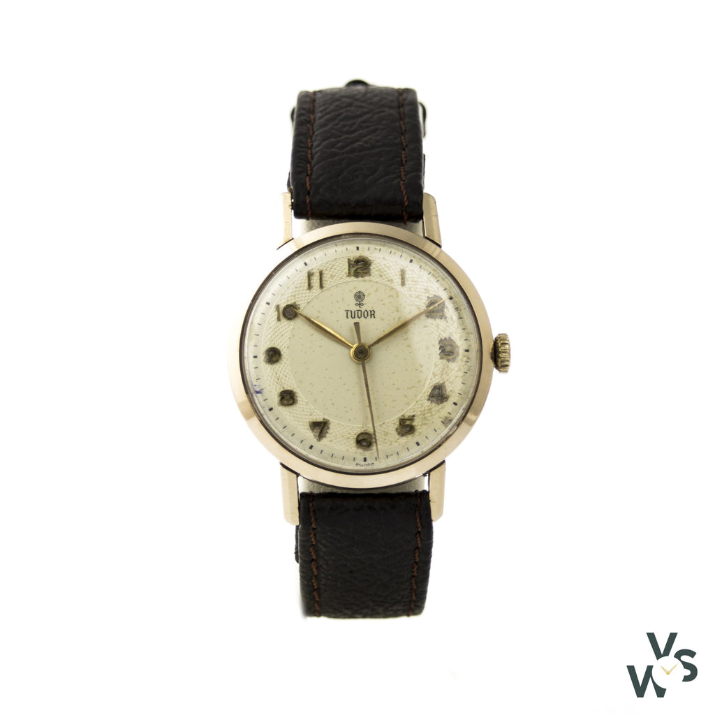 Tudor 9K Gold Dress Watch - Vintagewatchspecialist
