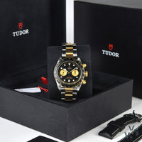 Tudor Geneve Black Bay 79363N Chronograph - 2020 Brand new unworn Box and Papers - Vintage Watch Specialist