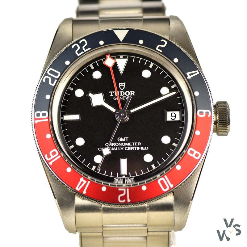 Tudor Geneve Black Bay GMT Pepsi - Ref M79830RB-0001 - Oct. 2020 with Box and Paperwork - Vintage Watch Specialist
