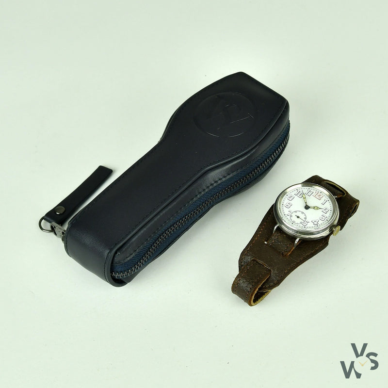 G.S. Cased Trench Watch (Silver) Swiss Made Movement - Vintage Watch Specialist