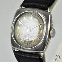 WW1 Swiss Silver Trench Watch c.1909 - British Import - Stockwell & Company Imported - Vintage Watch Specialist