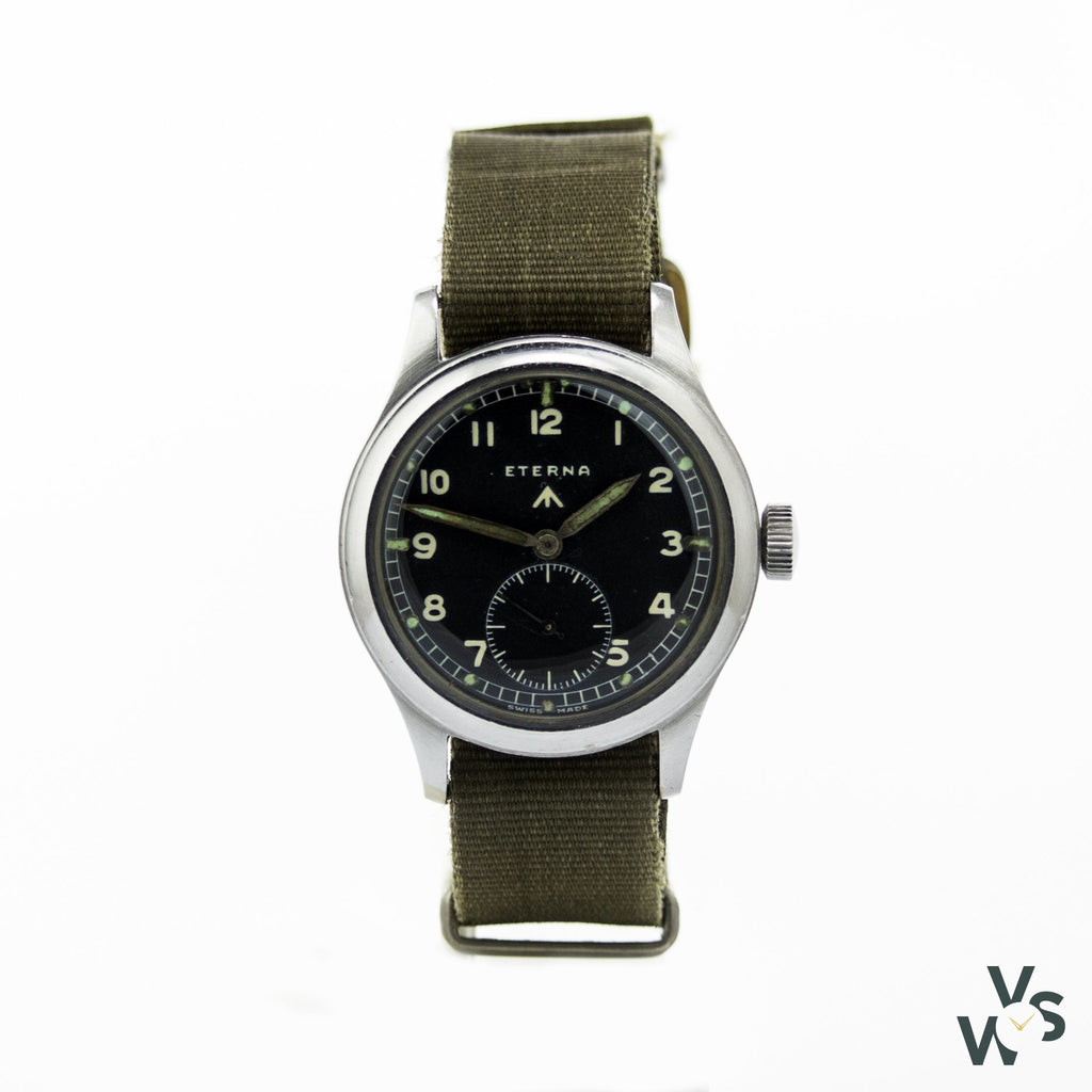 Www Eterna Military Watch - Calibre 520H - Dirty Dozen C.1940 - Vintagewatchspecialist