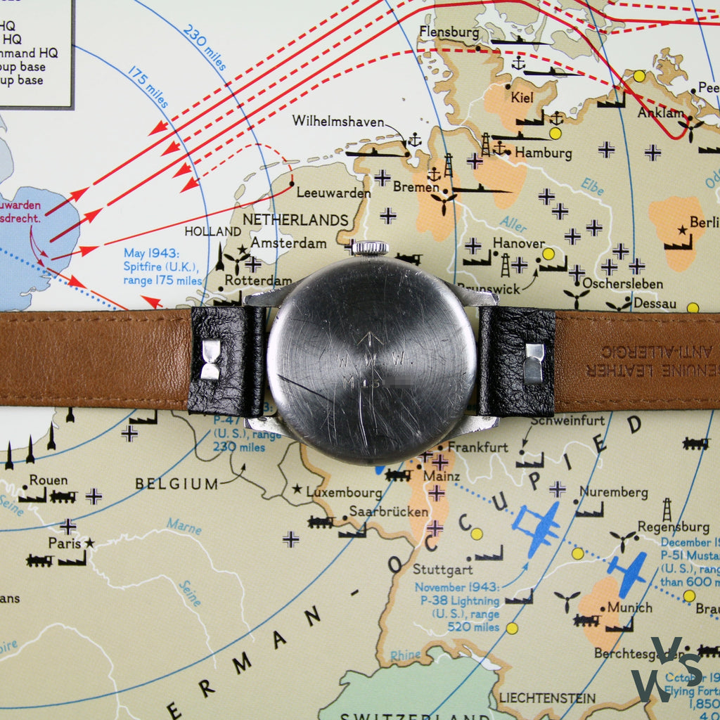 WWW IWC Military Dirty Dozen Watch - c.1945 WW2 Issue - Calibre 83 - Vintage Watch Specialist