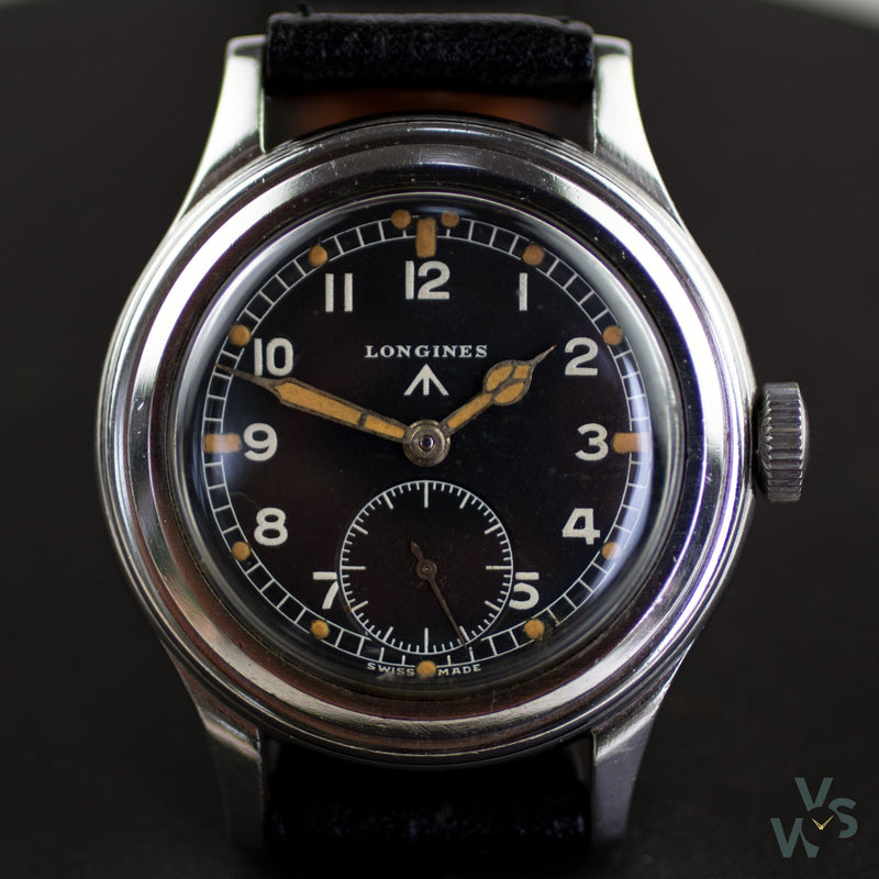 WWW Longines Greenlander Military Dirty Dozen Watch - Cal-12.68Z - Vintage Watch Specialist