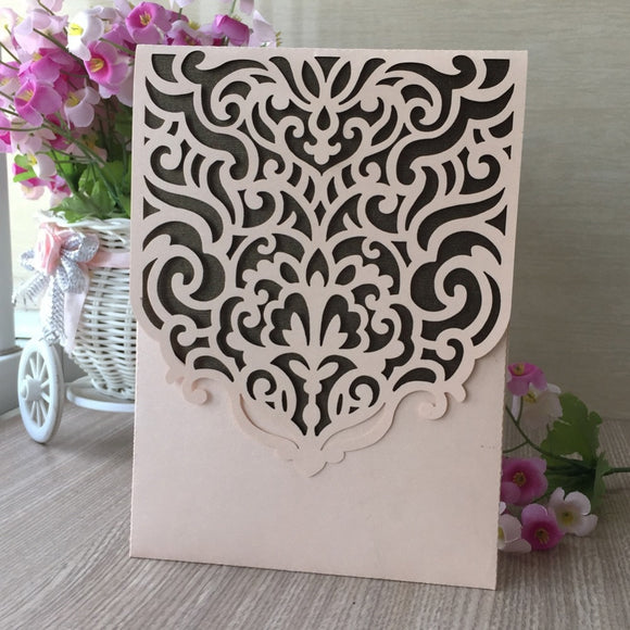 Pearl Paper Pocket Greeting Card 100pcs/lot