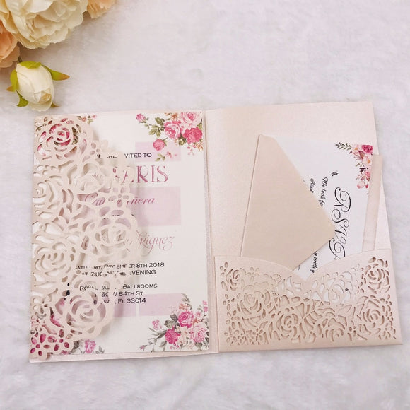 Gatefold Pocket Invitation