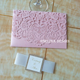 Luxurious Sweetheart Pocket Invitations 50pcs/lot