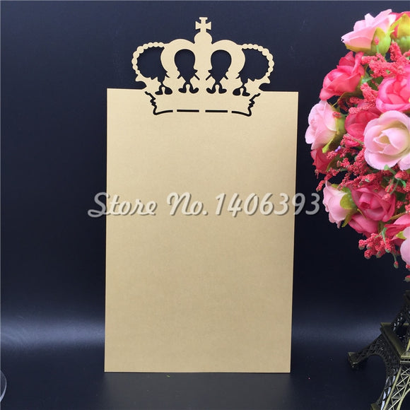 Crown Table Place Card