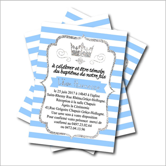 Little Prince Baby Shower Invitation Cards