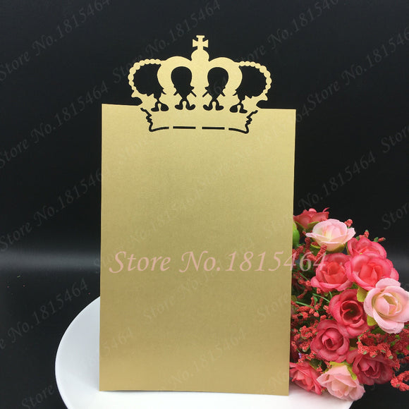 Hot Sale Crown Menu Cards 30pcs/lot