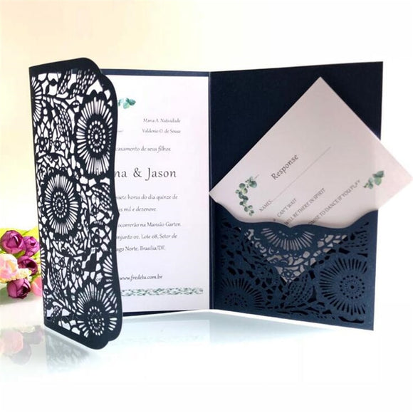 Modern Invitation Card with Envelope 100pcs/lot