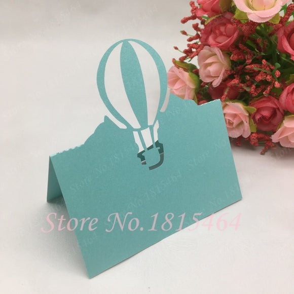 Balloon Table Name Place Cards