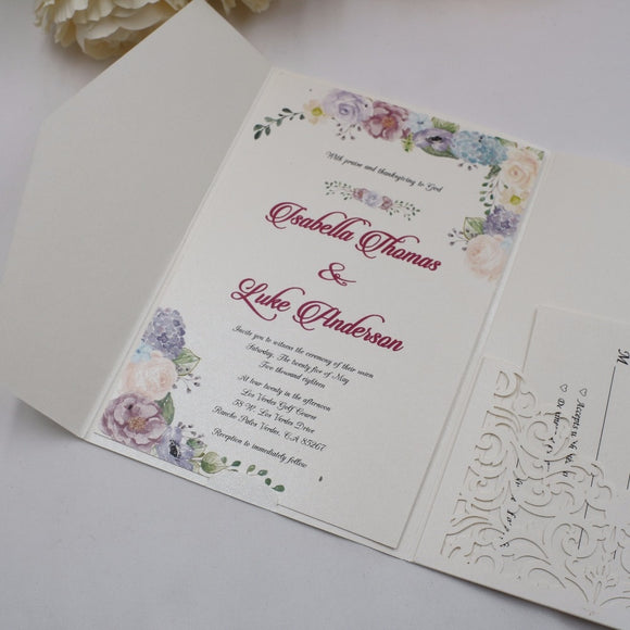Hollow Tri Fold Invitation