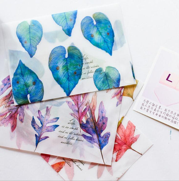 Fallen Leaves Letter Stationary (8 Pieces / Lot )