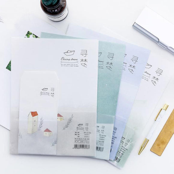 Chasing Dream Stationary Envelope (8 Pieces/Pack)