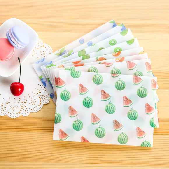 Fruit Translucent Stationary Paper (8 pieces / lot)