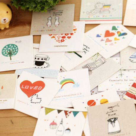Cartoon Wishes Letter Stationary (2 Pieces / Lot)