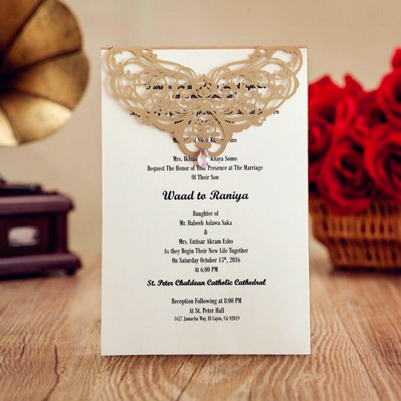 Anniversary Invitation Menu Cards 100pcs/lot