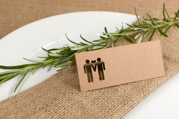 Hand in hand Place Card