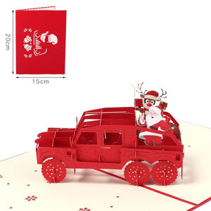 Pop Up Car Holiday Invitation Card 1 Piece