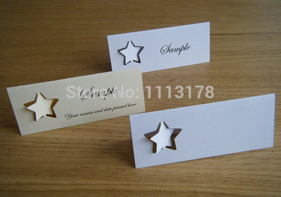 Star Design Place Card