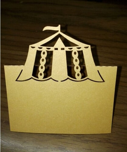Carnival Tent Place Card