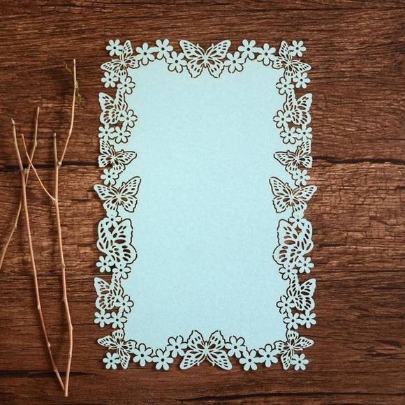 Butterfly Wedding Printable Menu Cards 100pcs/lot