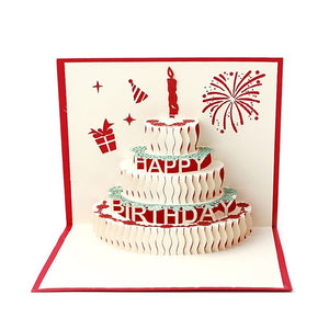 Luxury Handmade Pop Up Greeting Card 1 Piece