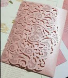 Tri Fold Hollow Invitation Card