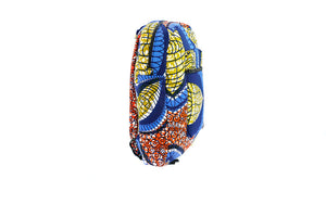 Kobina mini backpack in blue multi print