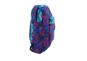 Minyahn backpack in fuschia turq hexagon print