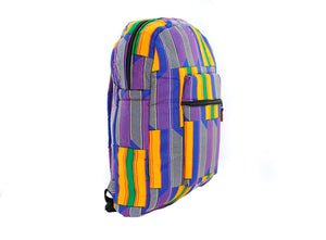 Minyahn Backpack in Purple Kente Print