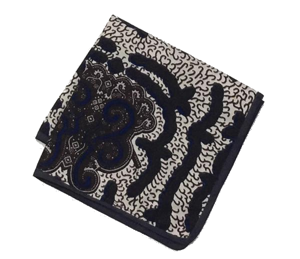 Osho pocket square in blue paisley print