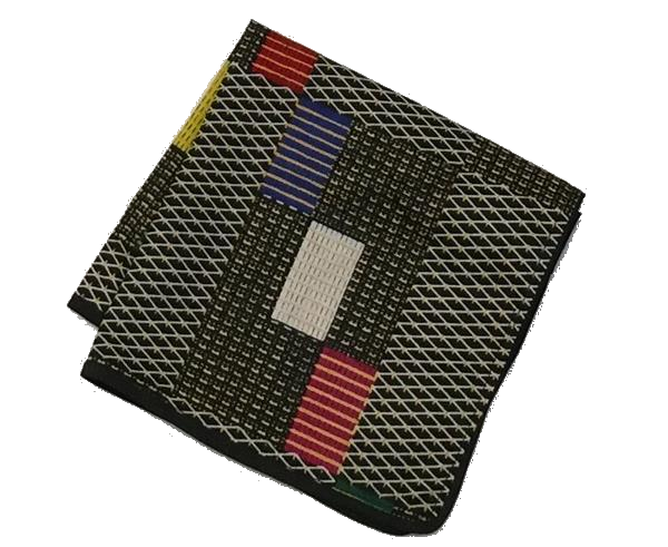 Osho pocket square in check multi pattern print