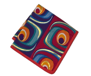 Osho pocket square in multi color print