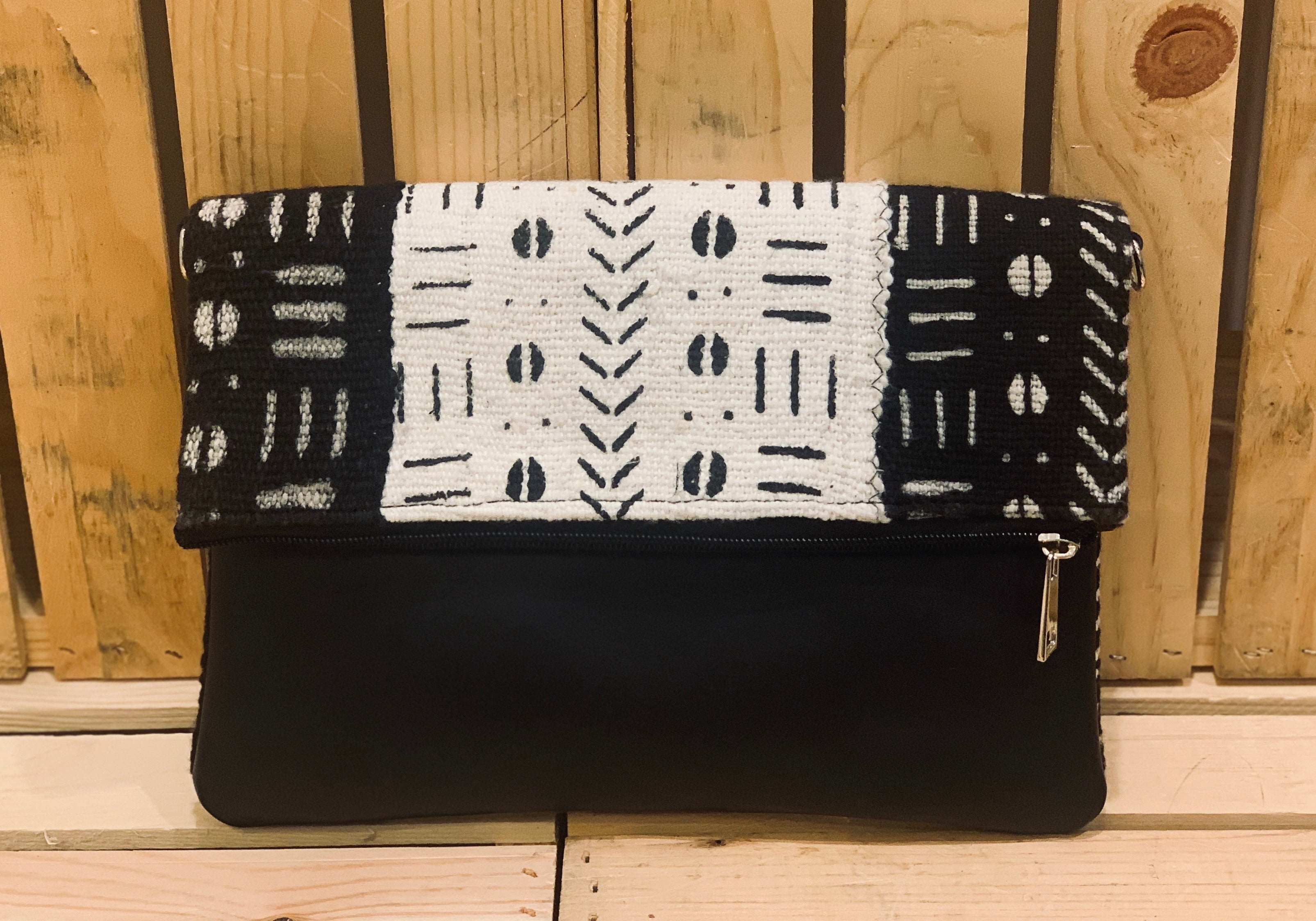 Fajara Bogolan Fold Over Clutch