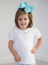 Short Sleeve Peter Pan Collar