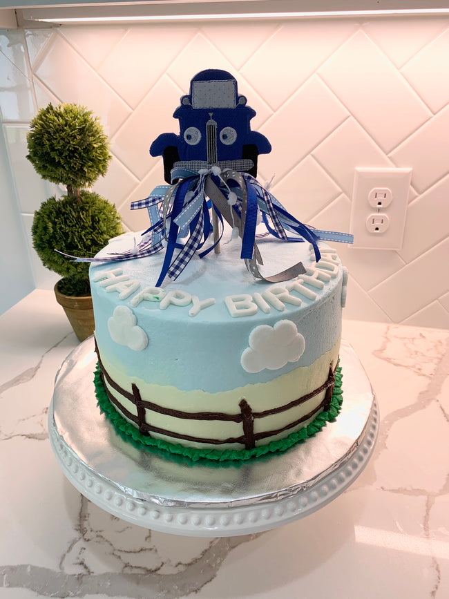 Little Blue Truck cake topper